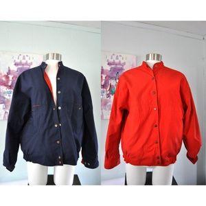 Vintage Reversible Jacket Ladies Blue Red Casual
